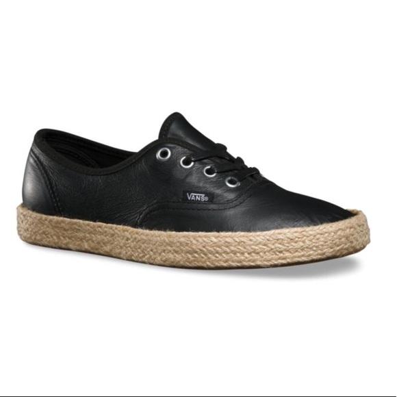 ed9944911b09 Vans authentic espadrille- leather